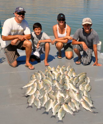 White Bass Fishing with Rio Grande Guide Service