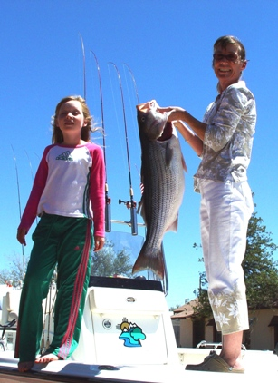Elephant Butte Fishing Guides, Monica and Gidget Moon Miller